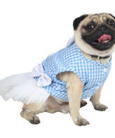 Douge Coutre blue check ultra cute dog/cat dress