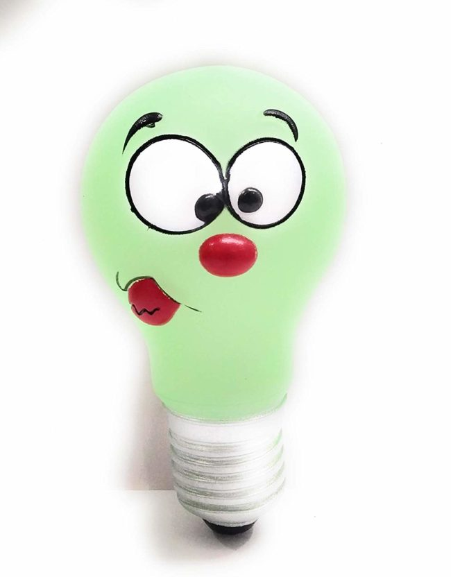 Douge couture Neon Vinyl Bulb | Squeaker Dog Toy | for Small & Medium Size Dog