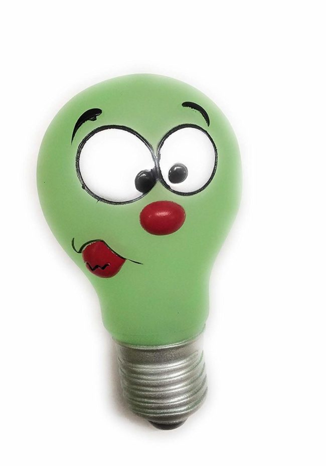 Douge couture Neon Vinyl Bulb   Squeaker Dog Toy   for Small & Medium Size Dog