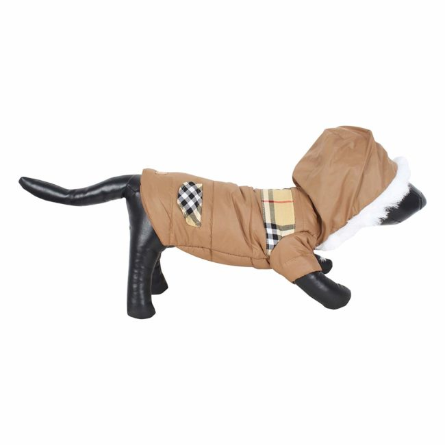 DOUGE COUTURE CLASSIC DOG ANXIETY JACKET BROWN COLOR