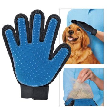 Douge couture Grooming Gloves for Dogs and Cats Hair Remover Brush Gloves,Pet Grooming Mitt Desheddi