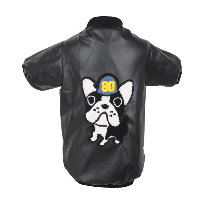 DOUGE COUTURE SMART LEATHER BLACK JACKET