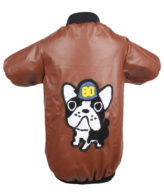 DOUGE COUTURE SMART LEATHER BROWN JACKET