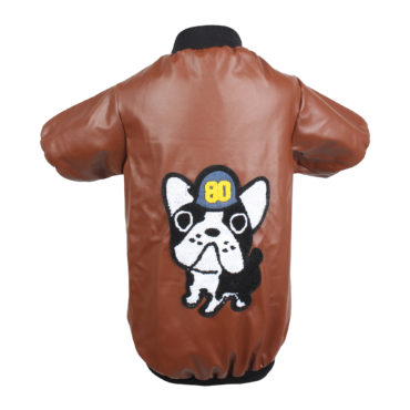 DOUGE COUTURE SMART LEATHER BROWN JACKET 2