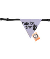 douge couture printed talk to the paw bandana (sm-ml sizes)