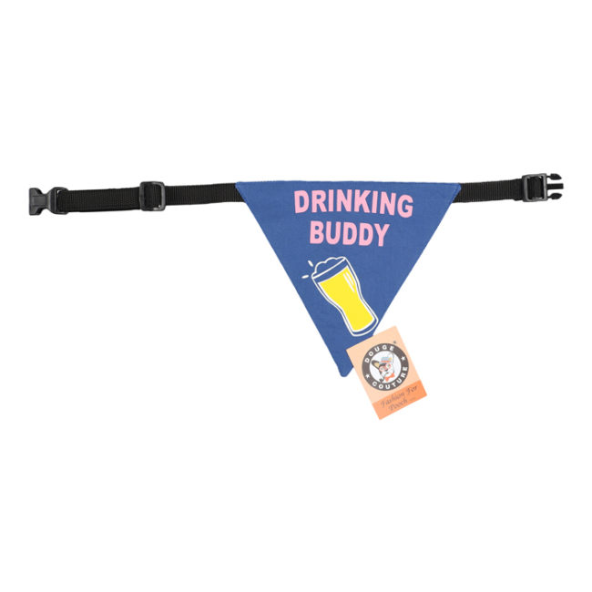 douge couture printed drinking buddy bandana (sm-ml sizes)