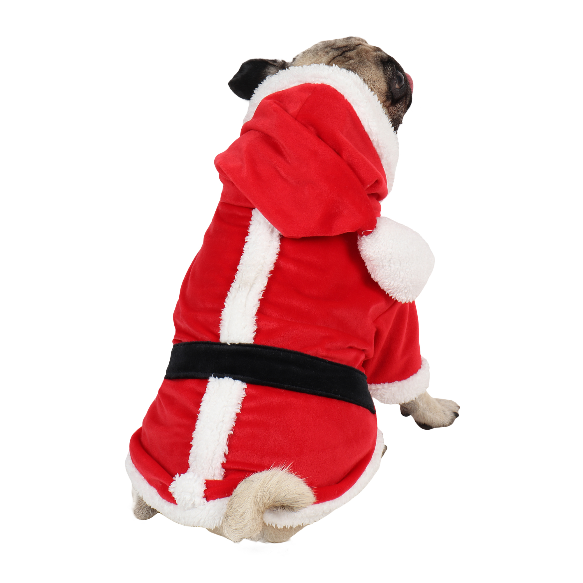 douge couture Christmas Dog Clothes, Santa Dog Costume Winter Pet Coats, Color : Red
