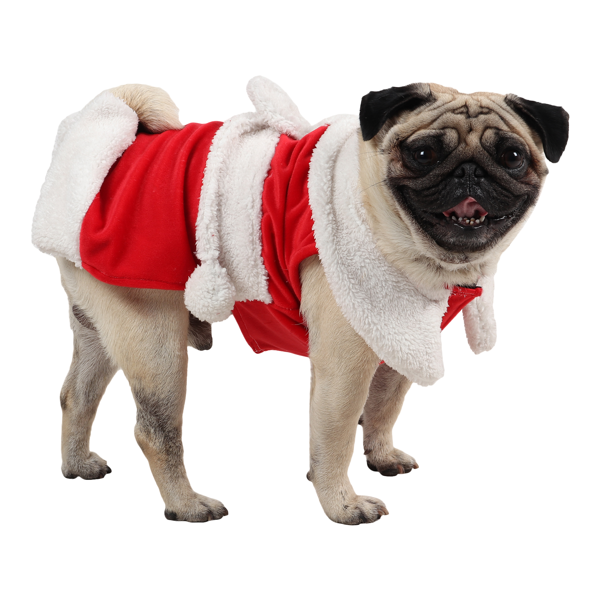 douge couture Christmas Dog Clothes, Santa female Dog Costume Winter Pet Coats, Color : Red