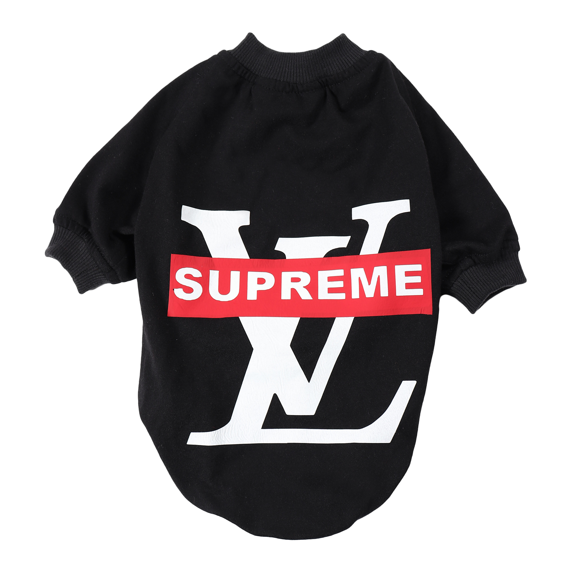 douge couture black printed colour cotton summer T-Shirt lv supreme