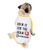 Dog Clothes yellow colour cotton summer T-Shirt (doing it for the gram)