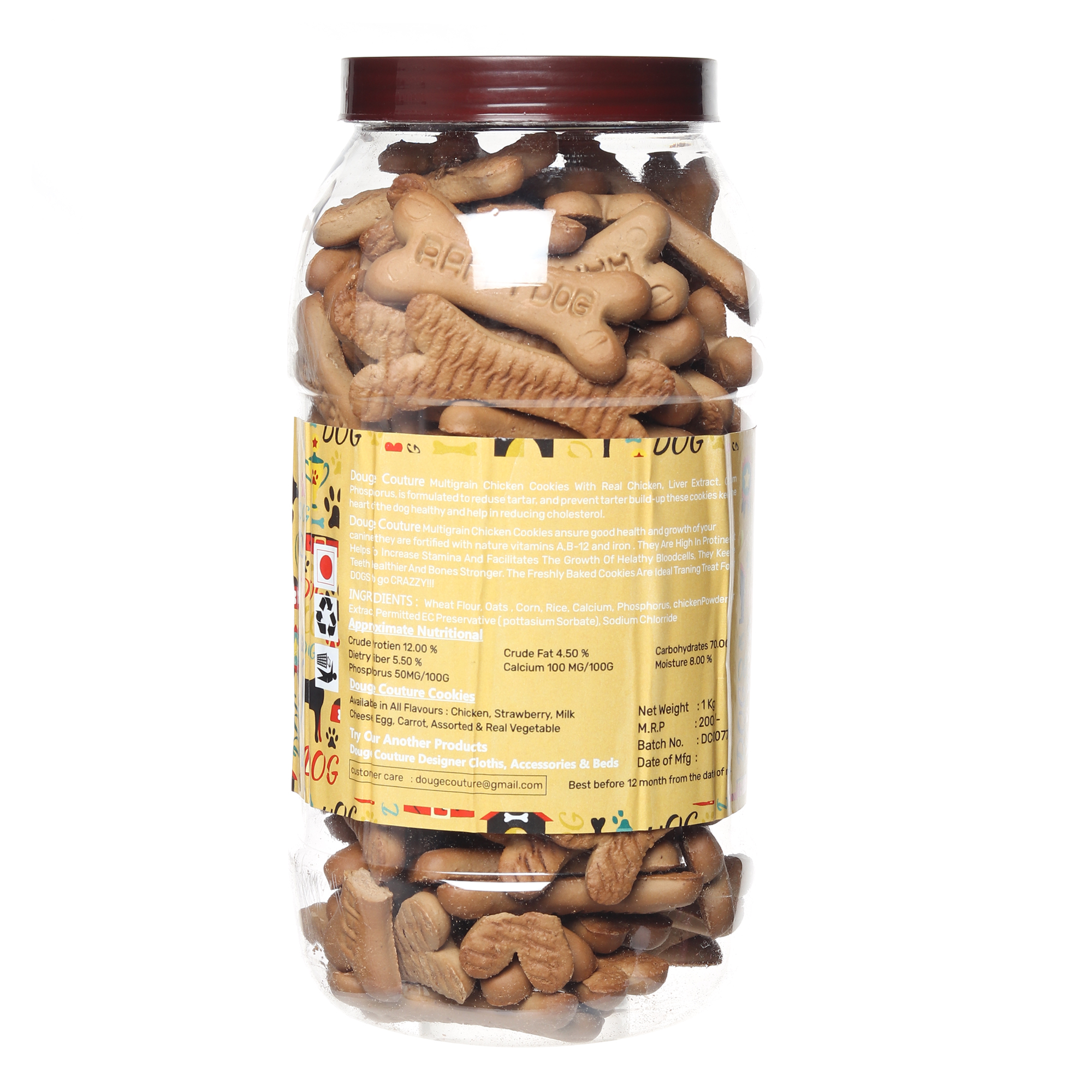 douge couture real chicken & peanut butter flavour 1 kg jar