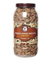 douge couture freshly baked chicken puppy biscuits 1kg jar