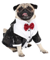 Dog Tuxedo (Glamour Party Tuxedo for Dogs (Black))