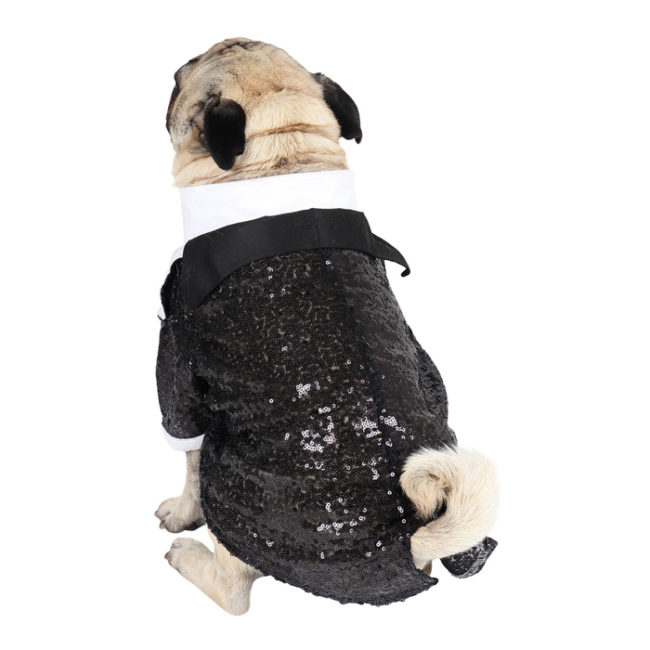 DOUGE COUTURE Elegant Glamour Party Tuxedo for Dogs (Black)