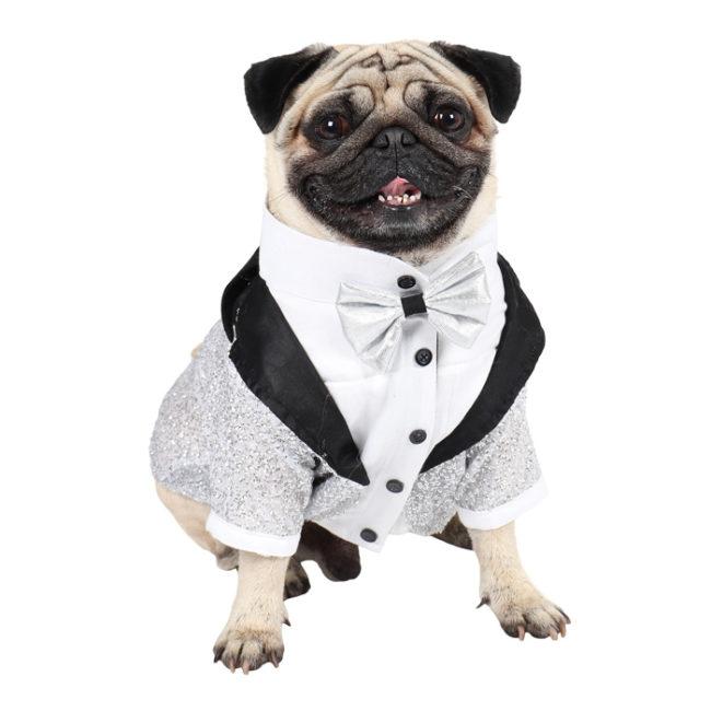 Dog tuxedo (Glamour Party Tuxedo for Dogs (silver))