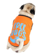 Dog Clothes (printed orange color cotton summer T-Shirt)