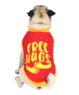 Dog Clothes (printed red color cotton summer T-Shirt)