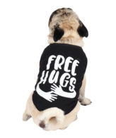 Dog Clothes (printed black color cotton summer T-Shirt)