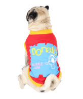 Dog Clothes ( donald printed red color cotton summer T-Shirt)