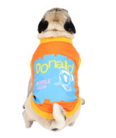 Dog Clothes (donald printed orange color cotton summer T-Shirt)