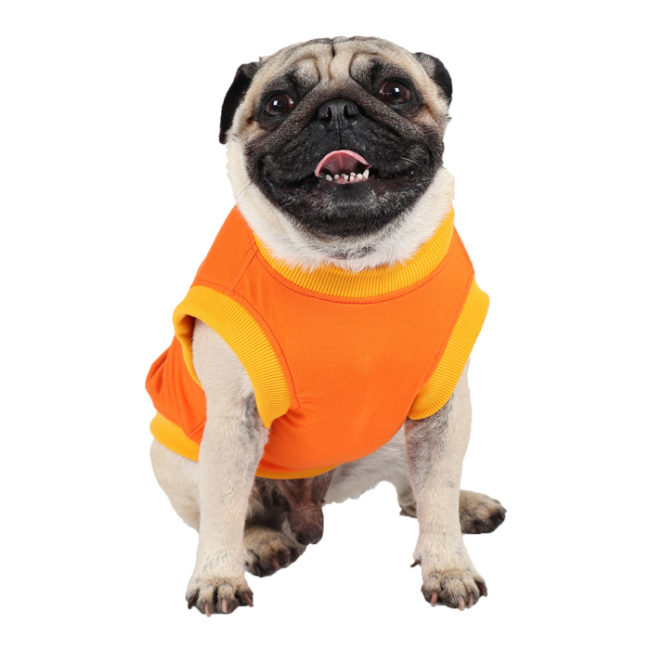 douge couture dark knight printed orange colour cotton summer T-Shirt