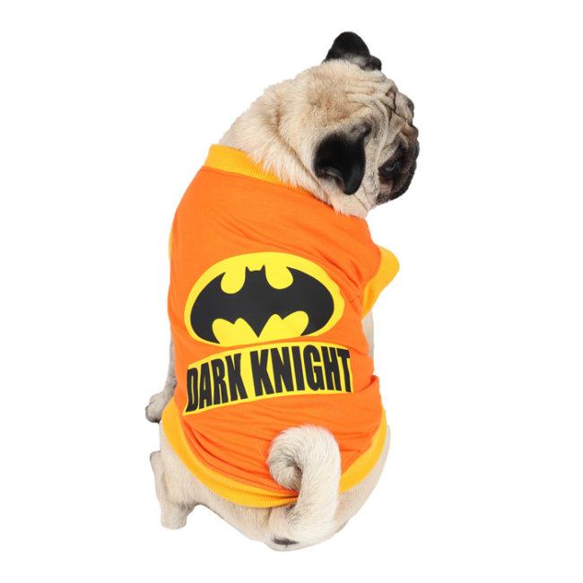 Dogs Shirts dark knight printed orange colour cotton summer T-Shirt