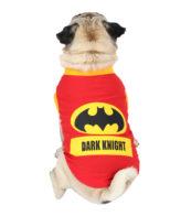 Dog TShirts dark knight printed red colour cotton summer