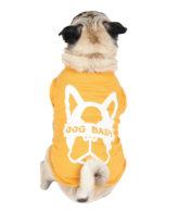 Dog Tshirt dogbaby printed yellow colour cotton