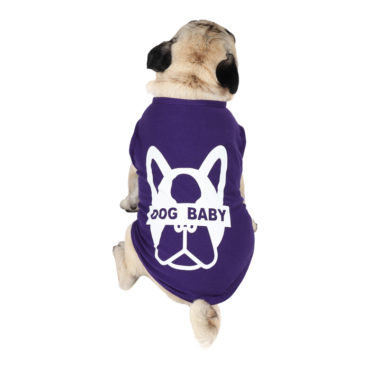 douge couture dogbaby printed purple colour cotton T-Shirt 1