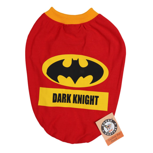 douge couture dark knight printed red colour cotton summer T-Shirt