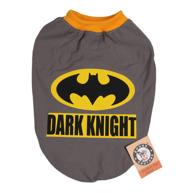 douge couture dark knight printed grey colour cotton summer T-Shirt