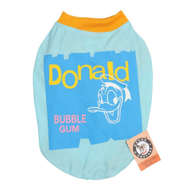 douge couture donald printed blue colour cotton summer T-Shirt