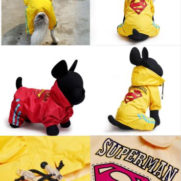 Dog Raincoat Full Printed Raincoat (Yellow)
