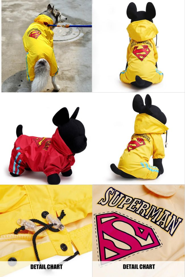 Dog Raincoat Full Printed Raincoat (Yellow)