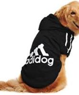 Dog Clothes adidog dog hoodies (black)