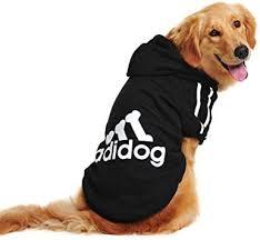 douge couture adidog dog hoodies dog clothes black 1