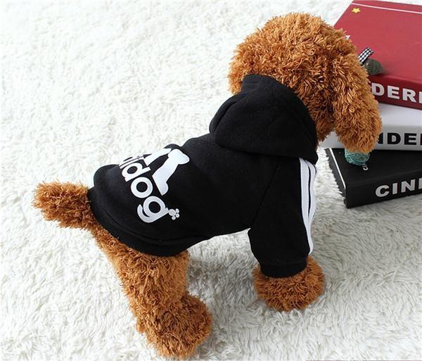 douge couture adidog dog hoodies dog clothes black