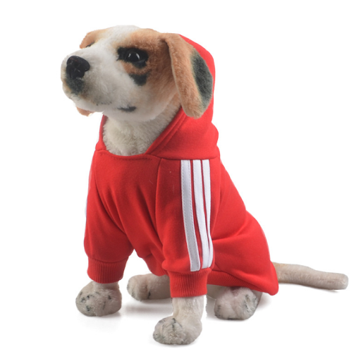 douge couture adidog dog hoodies dog clothes red