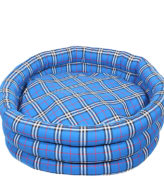 Douge Couture blue Round Dog Bed