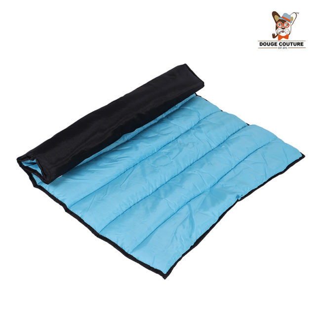 DOUGE COUTURE Portable Water Proof Mat Bed for Dogs and Cats |Blue