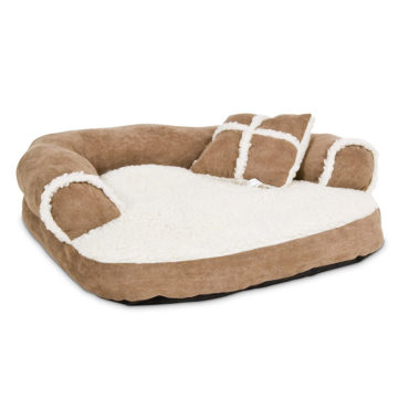 Douge Couture Soft Sofa Bed, Off-White/camel colour 1