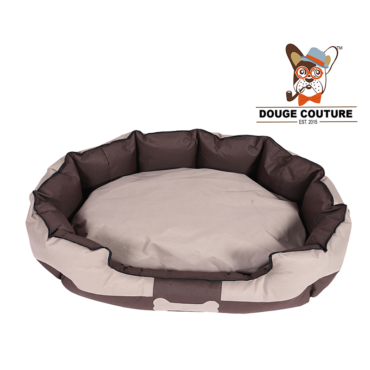 douge couture Anchor Soft Dog Bed Camel and BROWN Waterproof Washable Hardwearing Pet Basket Mat Cushion 2