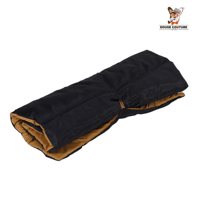 DOUGE COUTURE Portable Water Proof Mat Bed for Dogs and Cats | brown
