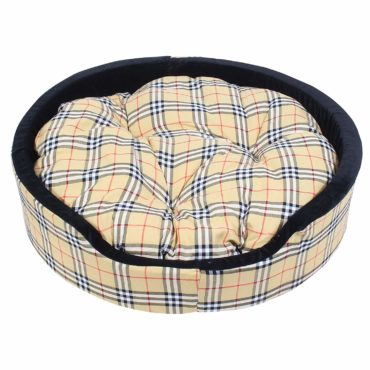 Douge Couture Designer Check Bucket Bed Cream Color 1