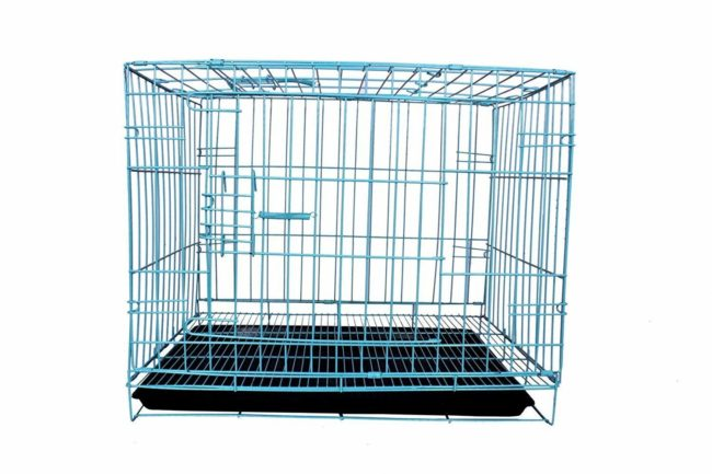 DOUGE COUTURE Cause Dog Cage with Removable Tray (Blue, 42 Inch) ( 18000 gm)