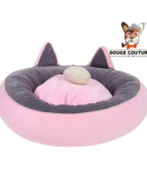Pet Bed With Soft Donut (Pink)