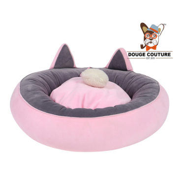 douge couture Super Soft Donut Pet Bed Pink Cat/Kitten/Dog/Puppy/Warm/Snug/Cosy/Round 1