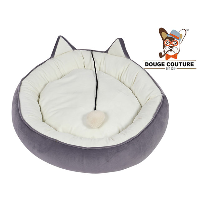 douge couture Super Soft Donut Pet Bed grey Cat/Kitten/Dog/Puppy/Warm/Snug/Cosy/Round (Copy)