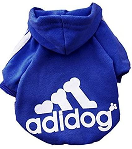 douge couture adidog dog hoodies dog clothes dark blue