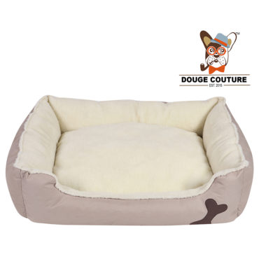 DOUGE COUTURE Super Soft Cozy Dog/cat Bed Grey 1